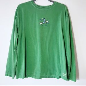 Life is Good Snowboarder Long Sleeve T-shirt Sz XL